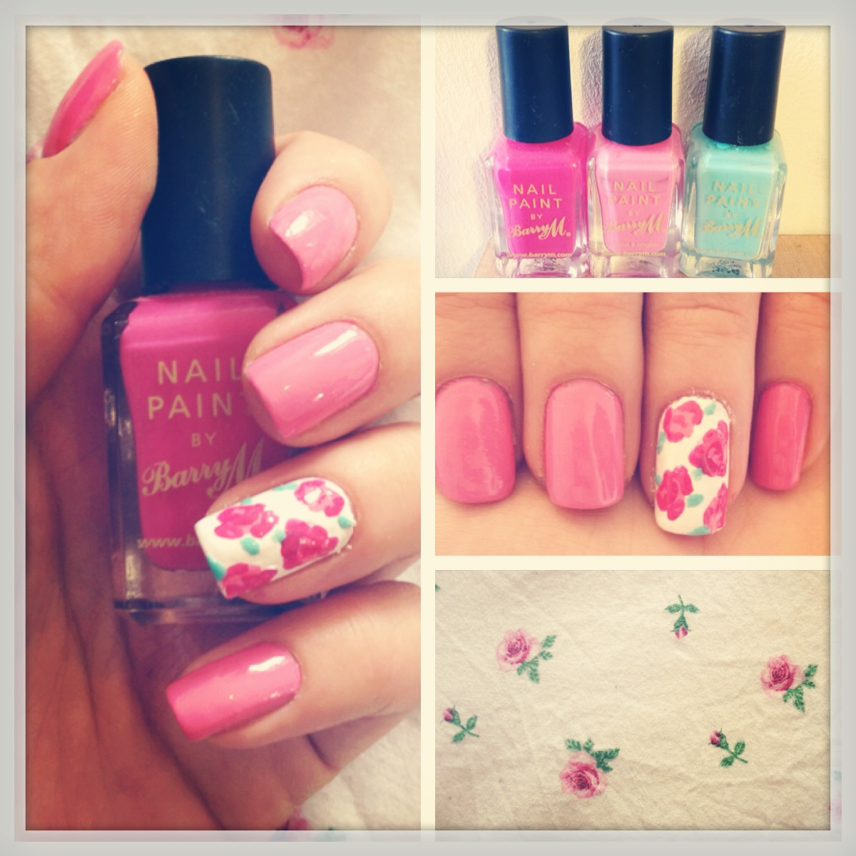 Floral Nail Design Lucy Lu Rose